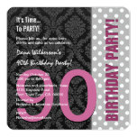 90th Birthday For Her Modern Color Pattern C90 Custom Invite