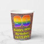 [ Thumbnail: 90th Birthday: Fun Graffiti-Inspired Rainbow 90 ]