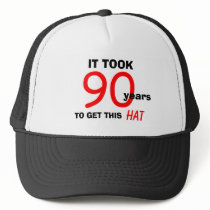 90th Birthday Gag Gifts Hat for Men