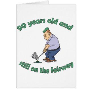 90th Birthday Golfer Gag Gift Card