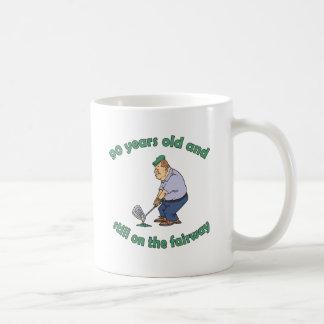 90th Birthday Golfer Gag Gift Coffee Mug