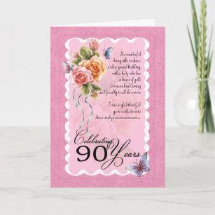 90th Birthday Greeting Card