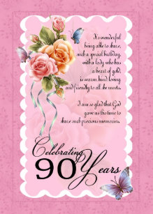 90th Birthday Greeting Card