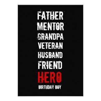 90th Birthday Hero Party Invitation