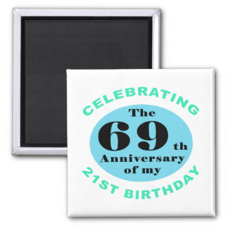 90th Birthday Humor 2 Inch Square Magnet
