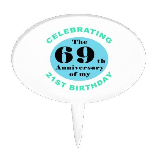90th Birthday Humor Cake Pick