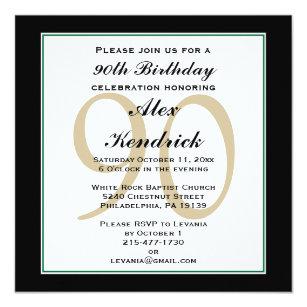 90th Birthday Invitations Zazzle