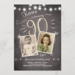 """90th Birthday Invitation Vintage Ninety Birthday<br><div class=""""desc"""">♥ A perfect way to invite your guests to this special birthday party!</div>"""
