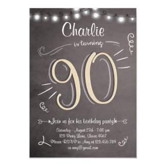 Surprise 90th Birthday Party Invitations Announcements Zazzle