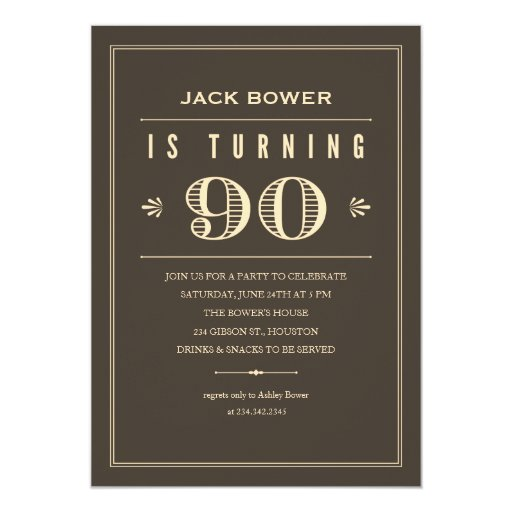Invitations 90Th Birthday was good invitation sample