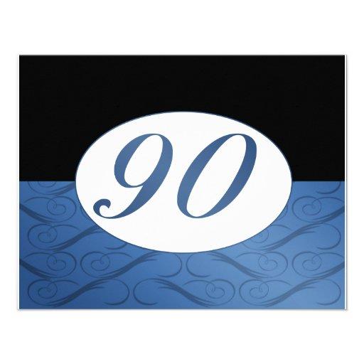 90th Birthday Invite (Blue)