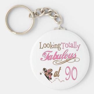 90th Birthday Keychain