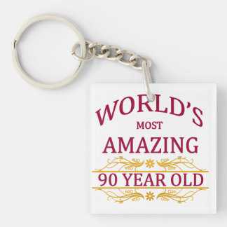 90th. Birthday Keychain