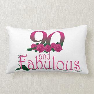 "90th birthday Lumbar Pillow 13"" x 21"""