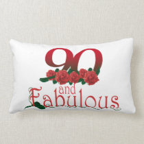 "90th birthday Lumbar Pillow 13"" x 21"""