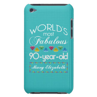 90th Birthday Most Fabulous Colorful Gem Turquoise Barely There iPod Cover