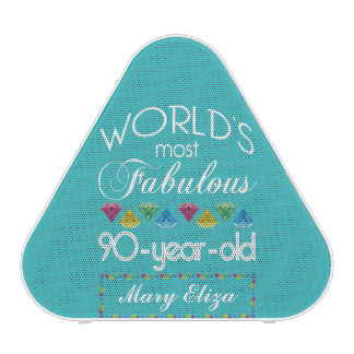 90th Birthday Most Fabulous Colorful Gem Turquoise Speaker