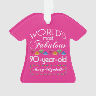 90th Birthday Most Fabulous Colorful Gems Pink