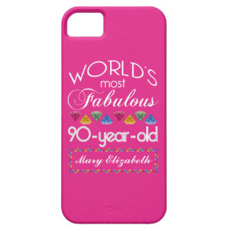 90th Birthday Most Fabulous Colorful Gems Pink iPhone 5 Case