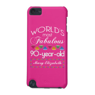 90th Birthday Most Fabulous Colorful Gems Pink iPod Touch (5th Generation) Case