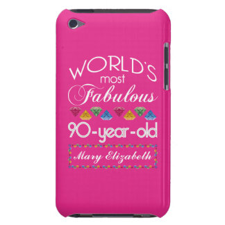90th Birthday Most Fabulous Colorful Gems Pink iPod Touch Case