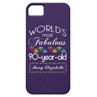 90th Birthday Most Fabulous Colorful Gems Purple iPhone 5 Cover