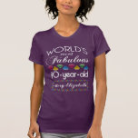 90th Birthday Most Fabulous Colorful Gems Purple T-Shirt