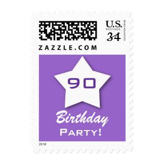 90th Birthday Party 3D Star V90Z Postage