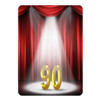90th Birthday Party Card