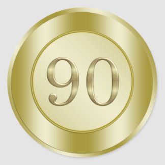 90th Birthday Party Classic Round Sticker