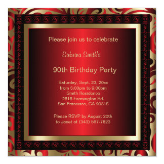 90th Birthday Party   DIY Text Card