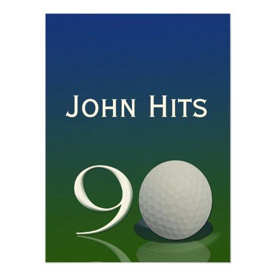 90th birthday party golf invitation template zazzle com