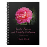 90th Birthday Party Guest Book, Pink Rose Note Books