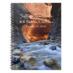 90th Birthday Party Guest Book, Zion Narrows Note Book