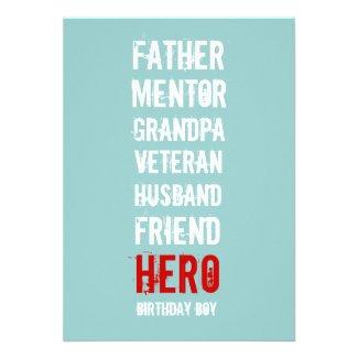 90th Birthday Party Hero Invitation
