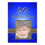 "90th Birthday party Invitation 5"" X 7"" Invitation Card"
