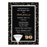 90th Birthday Party Invitation 90 and Confetti