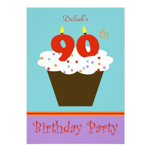 90th Birthday Party Invitation -- 90 Candles