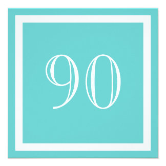 90th Birthday Party Invitation - Aqua