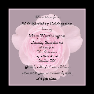 90 Year Old Birthday Invitations Zazzle