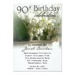 "90th Birthday Party Invitations 5"" X 7"" Invitation Card"