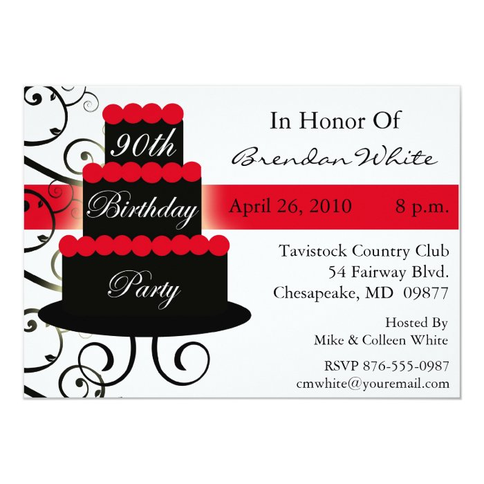 90th Birthday Party Invitations Zazzle