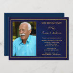 """90th Birthday Party Invitations - Add your photo<br><div class=""""desc"""">Create your own custom 90th Adult Birthday Party Invitations with your photo -- Elegant, affordable, and uniquely personalized for you! Customize the name, date, and details to personalize your milestone birthday invitations or to celebrate any happy occasion. **NOTE: Sized for 5x7 invitation cards. Other sizes available. © Teri Francis. Matching...</div>"""