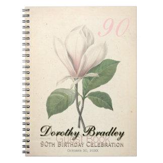 90th Birthday Party Magnolia Custom Guest Book