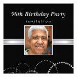 90th Birthday Party - Mens Photo Invitations