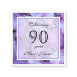 90th Birthday Party Paper Napkins Standard Cocktail Napkin