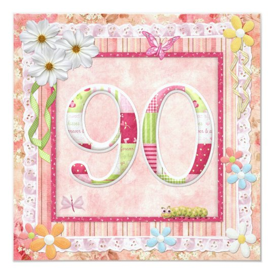 90th birthday party scrapbooking style card