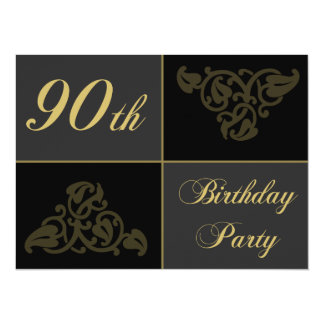 90th Birthday Party supplies Card