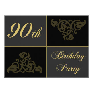 90th Birthday Party supplies Personalized Invite