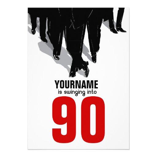 90th Birthday Party Swingers Rat Pack Custom Invites